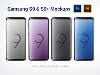 Free Samsung Galaxy S9 & S9+ Mockups (Ai & PSD)