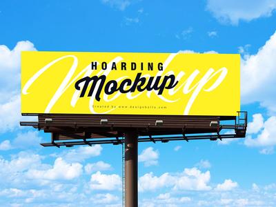 Free Outdoor Advertising Billboard Mockup PSD billboard mockup outdoor mockup mockup psd psd mockup freebie hoarding mockup free mockup