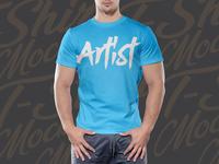 Free Half Sleeves T-Shirt Mockup PSD