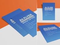 3 High Quality Free A4 Flyer Mockup PSD Set