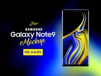 Free Samsung Galaxy Note 9 Mockup PSD, Ai & EPS