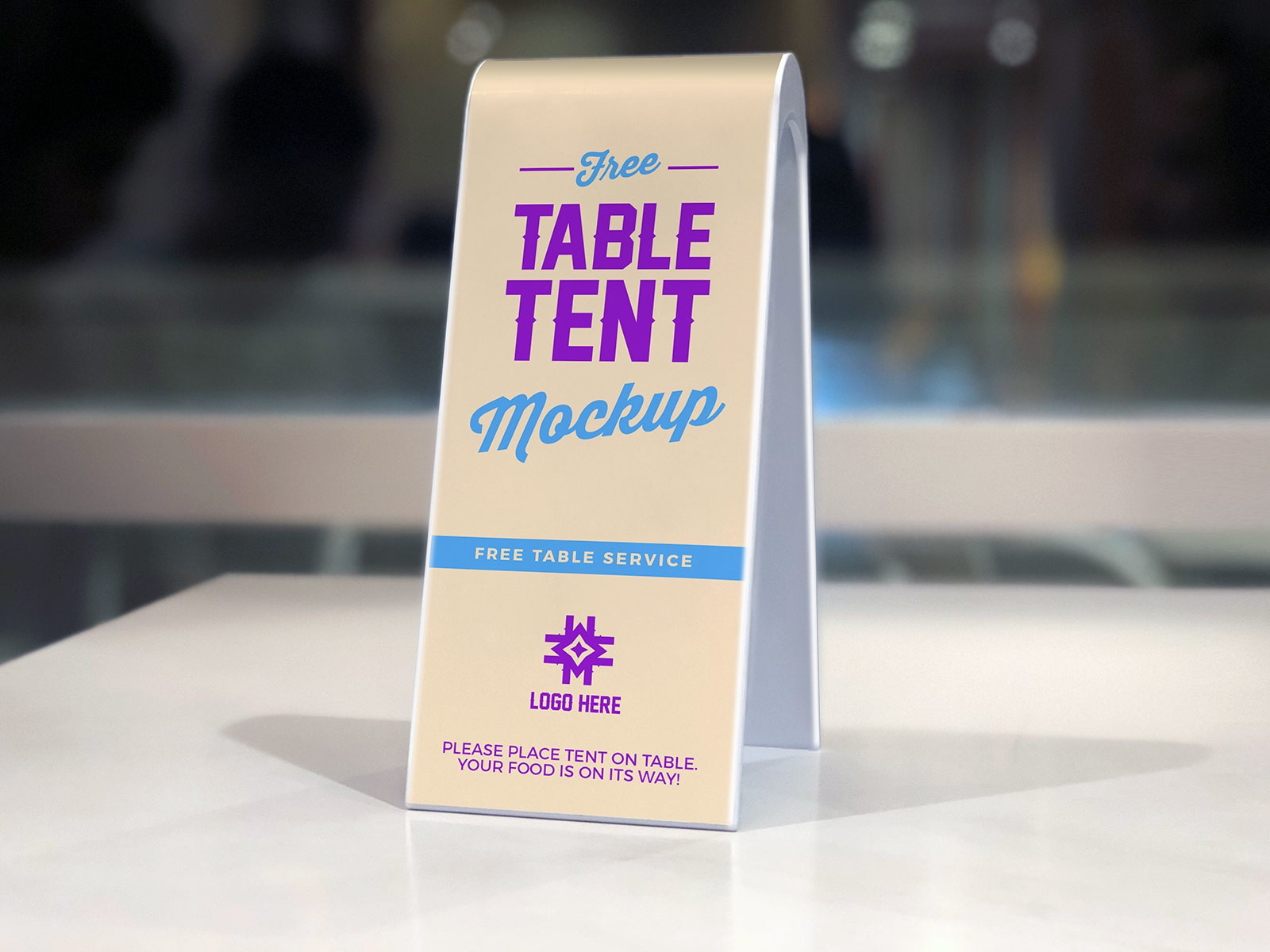 Free Plastic Table Tent Mockup PSD By Zee Que Designbolts Dribbble - Plastic table tents