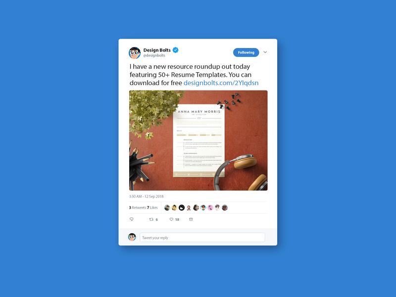 Free Twitter Tweet Ui Mockup PSD 2018 by Zee Que | Designbolts on