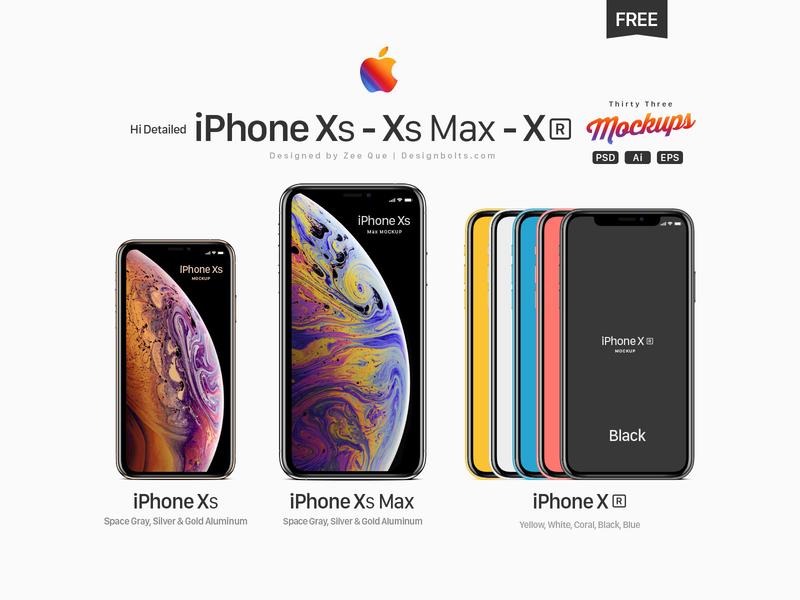 Free Apple iPhone Xs, Xs Max, Xr Mockup PSD, Ai  & EPS flat mockup freebie mockup psd iphone mockup iphone xr mockup iphone xs max mockup free mockup iphone xs mockup iphone xr iphone xs max iphone xs