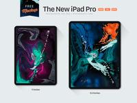 The New iPad Pro 2018 Mockup PSD, Ai & EPS