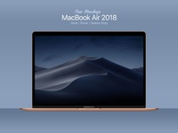 Free MacBook Air 2018 Mockup PSD, Ai & EPS