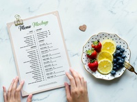 Free Restaurant Menu Flyer Mockup PSD