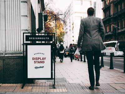 Free Outdoor Roadside Display Stand Mockup PSD free download psd free psd mock-up mockup psd mockup sign mockup road sign mockup display mockup free mockup freebie mockup psd outdoor mockup display stand mockup
