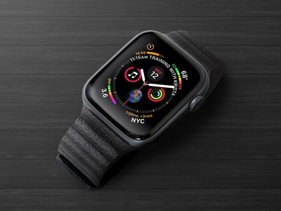 Free Apple Watch Series 4 Mockup PSD