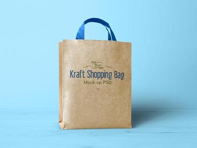 Free Kraft Paper Shopping Bag Mockup PSD