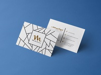 Free Front / Back Business Card Design Template & Mockup PSD