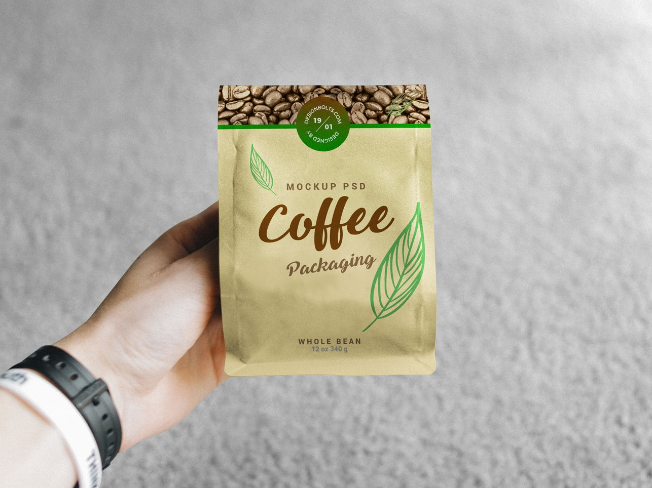 Free Hand Holding Coffee Packaging Mockup PSD free download mock-up free psd psd psd mockup mockup freebie free mockup mockup psd packaging mockup coffee mockup coffee bag mockup