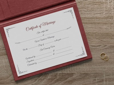 Free Certificate of Marriage Design Template in Ai & Mockup PSD