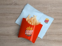 Free French Fries Packaging Mockup PSD