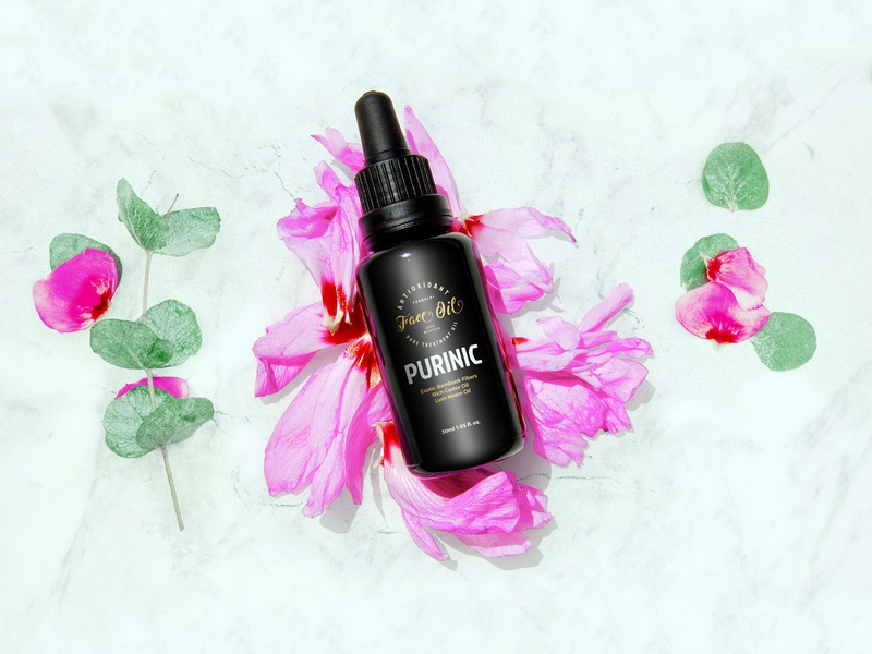 Free Antioxidant Facial Oil Bottle Mockup PSD
