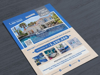 Free Real Estate House For Sale Flyer Design Template PSD
