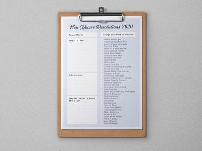 2020 New Year Resolutions Printable List Free Ai Template freebie free template new year 2020 new year resolutions 2020 printable template resolutions 2020 resolutions new year resolutions list