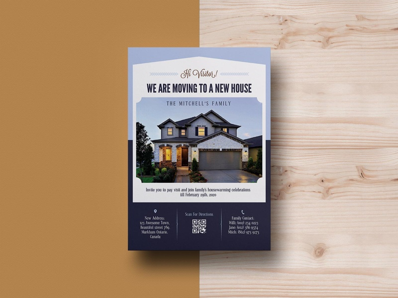 We Have Moved New House Flyer Template PSD