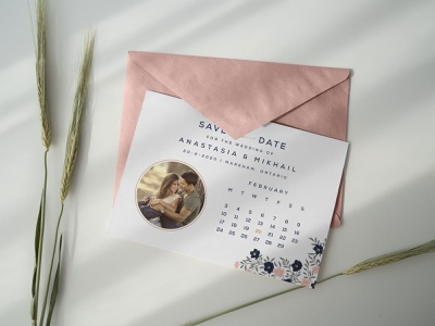 Free Save the Date Postcard Design Template/ Envelope Mockup PSD free mockup mockup envelope mockup postcard template postcard design save the date