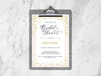 Free Bridal Shower Flyer Design Template