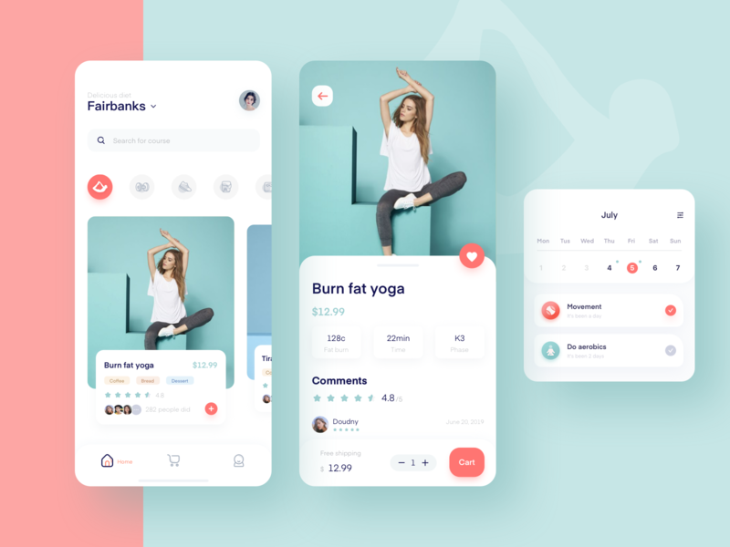 Fitness class booking process, I hope you like the color mobile ux 设计 ui