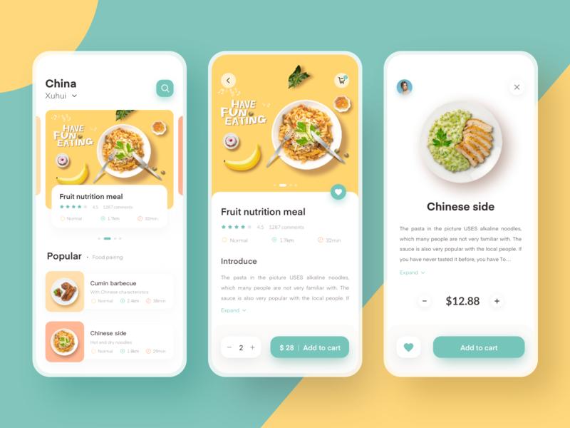 Food delivery App 插图 移动 应用 设计 ux ui