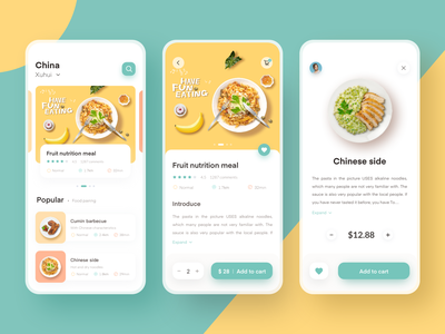 Food delivery App 插图 移动 应用 设计 ux ui