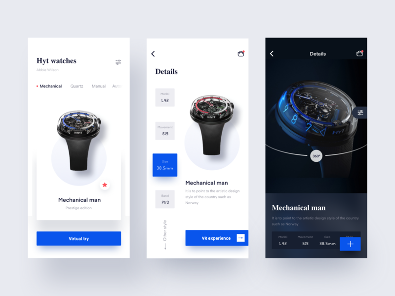 Vr watch shopping experience typography vector 图标 mobile 移动 设计 ui