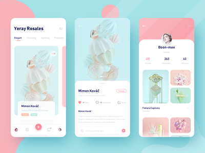 Photo social app, continuation of previous style branding illustration typography 图标 应用 ux ui