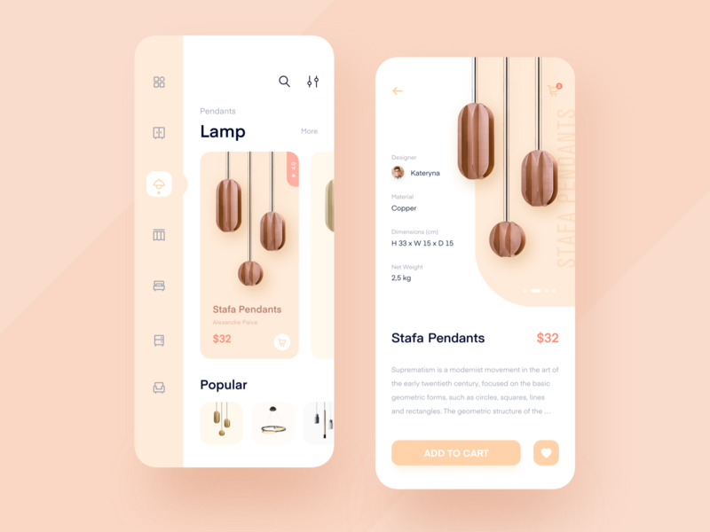 Shopping interface for household items 插图 logo mobile 应用 移动 ui