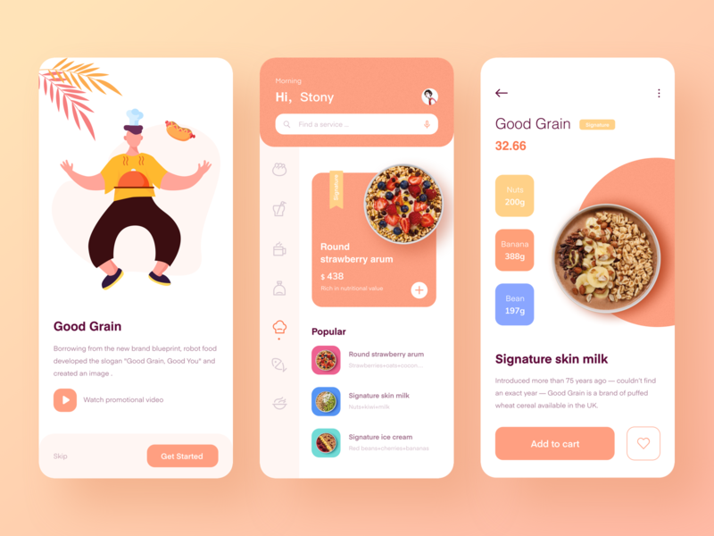 Food application design logo vector design 移动 插图 ui
