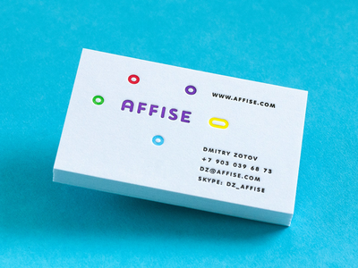 Affise Cards relief printing paperaprress papera press business identity logo print cards