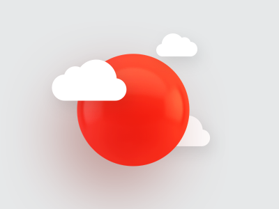 O shadow cinema4d solar sphere cloud red icon 3d letter sun