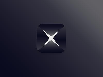 Project X form geometric slice ios power app icon secret hero super x