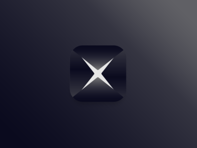 Project X form geometric slice ios power app icon secret hero super x