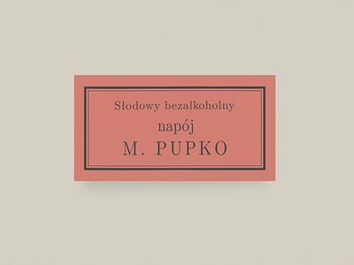 Pupko typography type antidesign label polish local beer