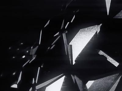 Glitché cryptonit space light composing c4d poly black shoot motion noise glitché x