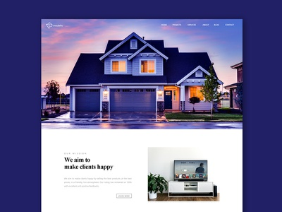 Landing Page house home webdesign website ui nature layout interaface icons homepage