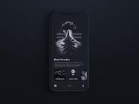Black Paradise / App UI