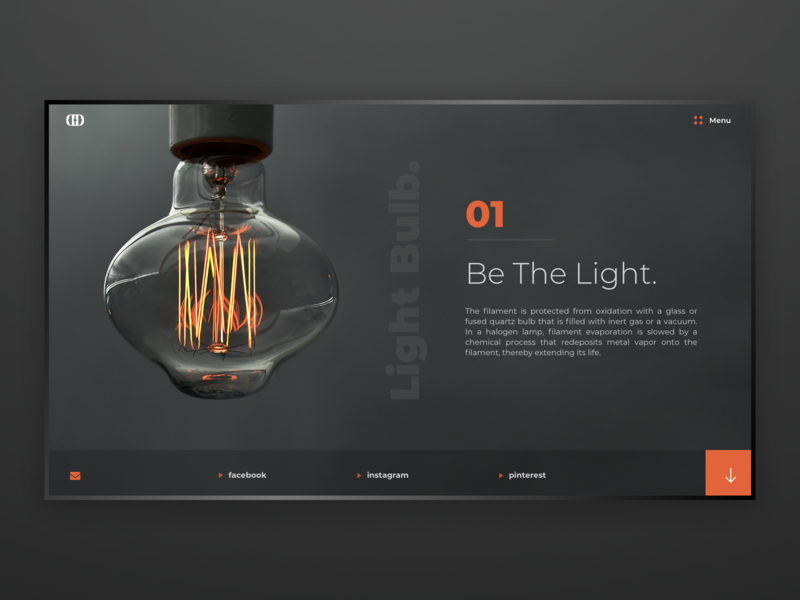 Light Bulb / Web UI light bulb wireframe application app web typography webdesign layout website design ux ui