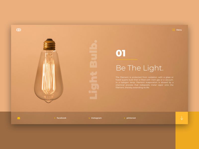 Light Bulb V2 / Web UI icon application page one wireframe layout typography app web design ux ui bulb light