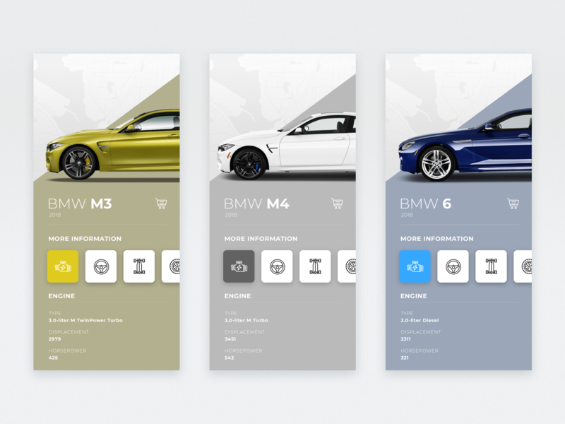 BMW / App UI design application app web illustration typography layout ux ui car bmw