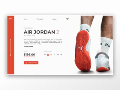 Air Jordan / Webshop UI