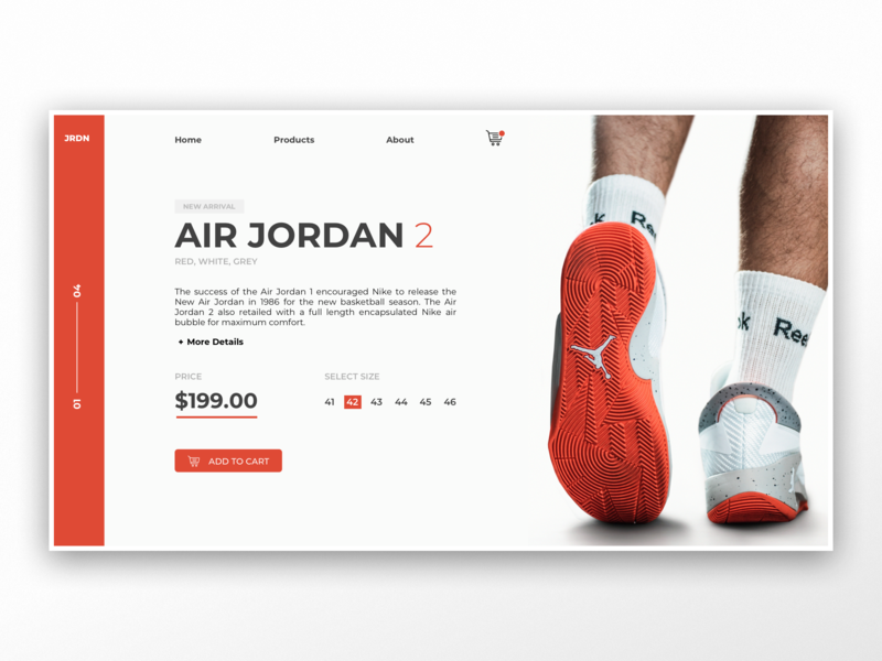 Air Jordan / Webshop UI nike shop flat icon vector branding application typography app webdesign layout ux web website ui design