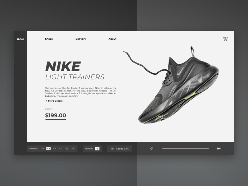 Nike Shop / Web UI wireframe shoes nike shop icon typography application app webdesign layout minimal web website design ux ui