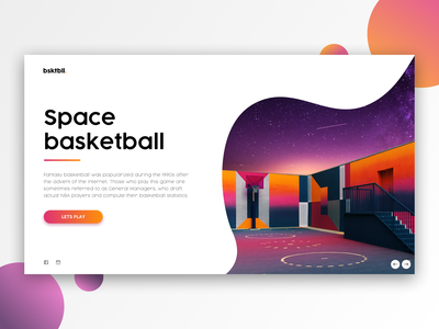 Space Basketball / Web UI basketball space web website design logo vector application icon typography illustration app webdesign layout ux ui