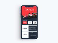 Ferrari / App UI
