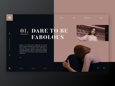 Fabolous / Web UI clothes fashion letter page typography application app webdesign layout website web design ux ui