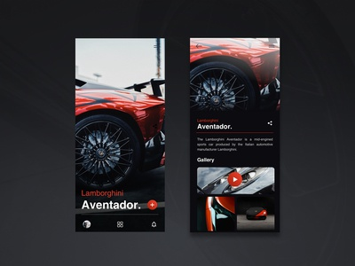 Lamborghini Aventador / App UI
