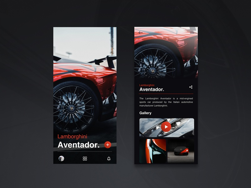 Lamborghini Aventador / App UI rims lamborghini car lettering wireframe type vector icon letter typography application app webdesign minimal layout web ux website design ui